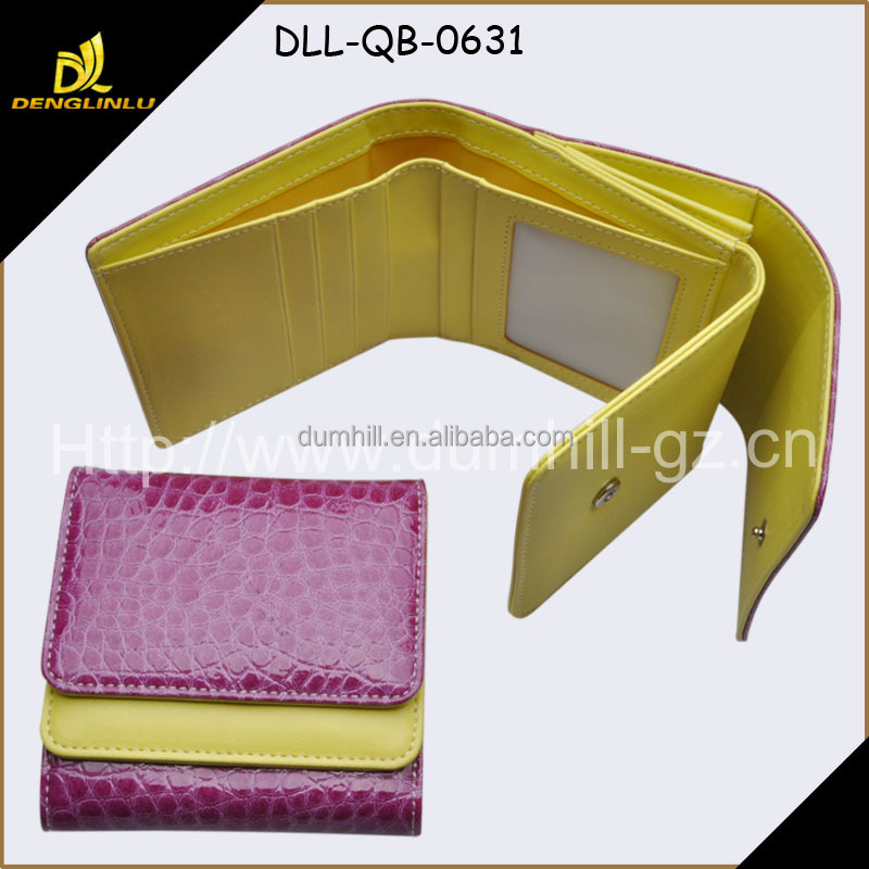 crocodile grain PU leather fashion lady pouch
