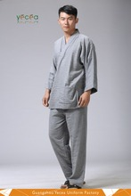 Autumn Staple cotton Unisex patient/homestyle daily Kimono robe gown hospital uniforms Wholesale & customize logo