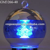 laser cut lighted glass christmas decoration