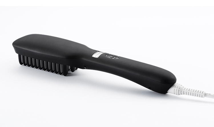 Electric ionic steam styler wet to dry hair straighteners brush comb as seen on tv flat iron