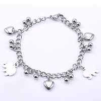 Beautiful pig pendant charm bracelets cheap bulk jewelry sale on alibaba express in spanish