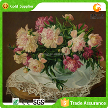 Plastic Stone New Designs Flowers Of Glass Painting