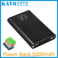 Power Bank, Portable 5000mAh Slim Aluminium Alloy External Mobile Battery Charger Pack