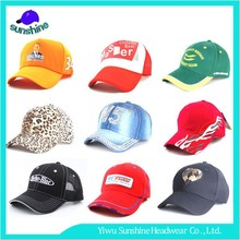Manufacture Custom SunScreen Sport Cap Red Pattern Fames Baseball Cap For Sales