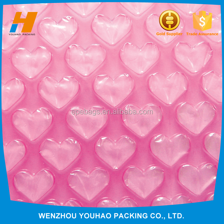 Factory directly sale Standard Bubble Roll with heart shape