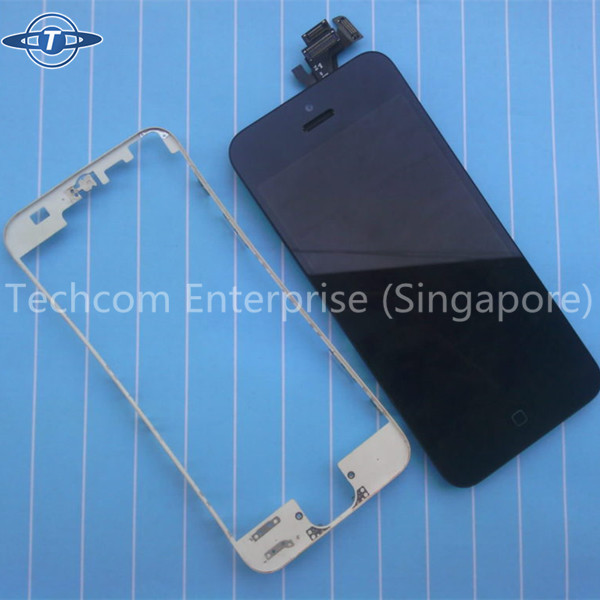 lcd touch screen middle bezel frame bracket for iPhone 5/5s black and white color for your choice