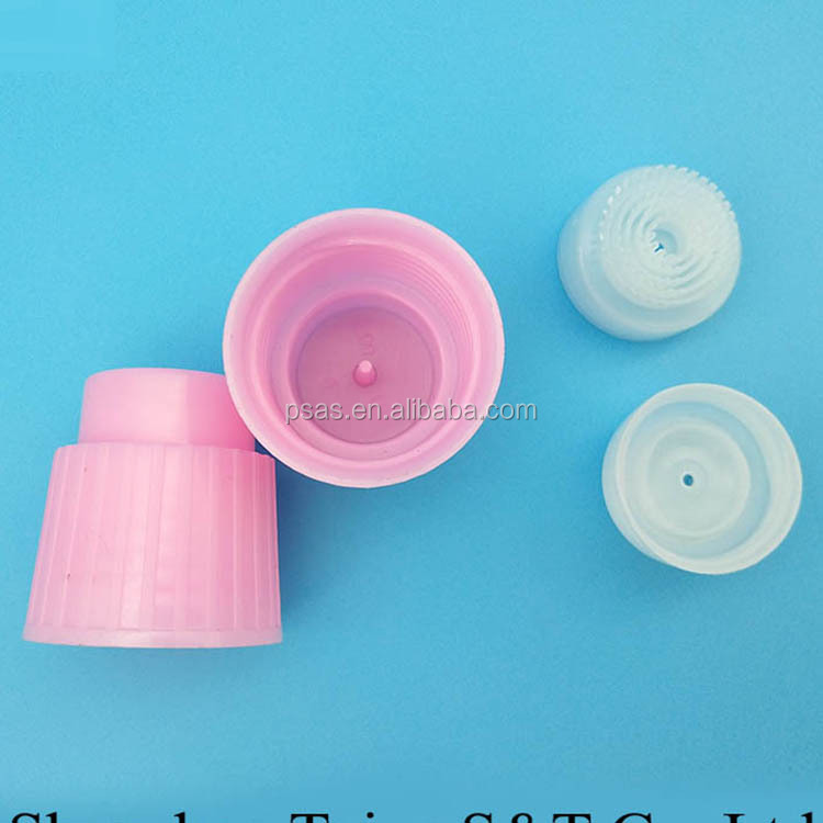 plastic paste cover liquid toilet cleaner screw cap with plug cap