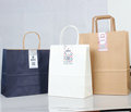 stick label small package new design high quality gift shopping present luxury kraft paper bags