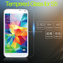 Phone Accessories 9H Tempered Glass for Samsung Galaxy S5 2.5D round edge Tempered Glass Screen Protector
