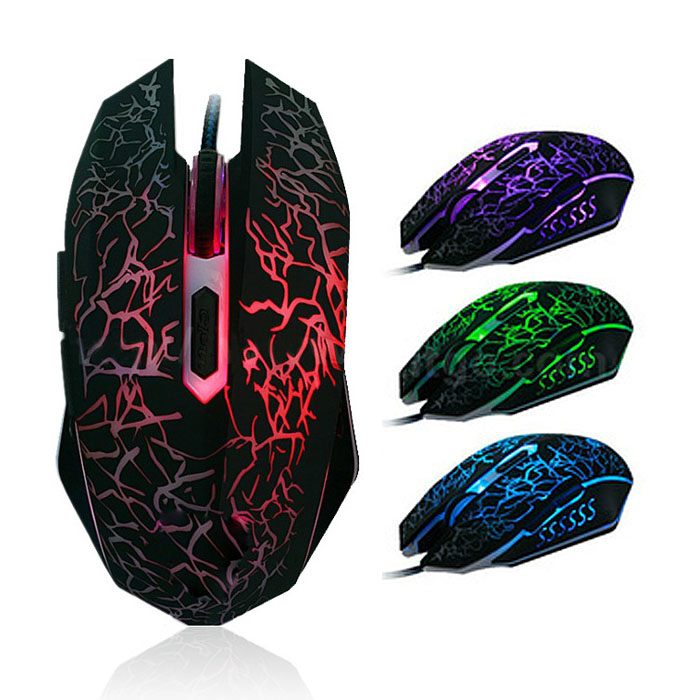 USB Wired Optical Computer Gaming Mouse 2400 DPI Game Mouse Mice With LED Light For Desktop Laptop