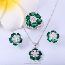 jewelry zhefan mini order White Gold plated jewelry set for bridal sample market