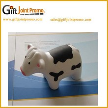 Promotional PU animals stress foam ball /PU toy milk cow