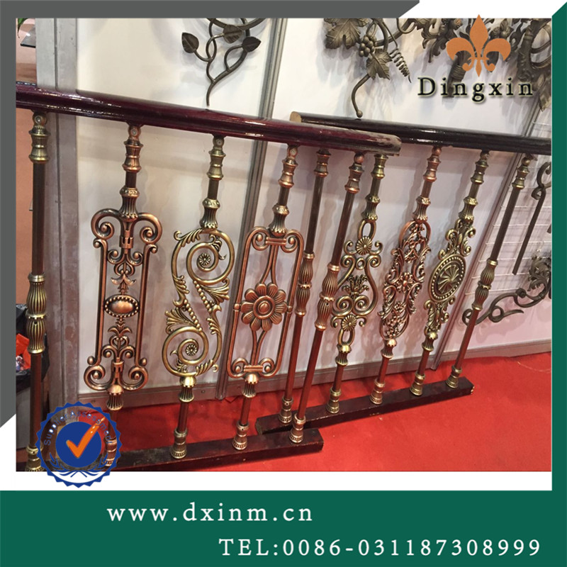 Classical handrail wrought iron stair railing gate components