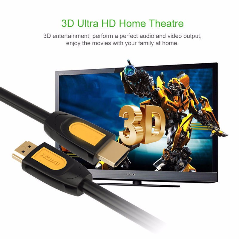 10FT / 3M Premium HDMI Cable  High Speed 3D 4K Ultra HD 2160p Video Lead hdmi 2.1 cable bulk hdmi cable
