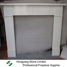 China Cheap Alpine white Polar White Micro Marble Indoor Fireplace