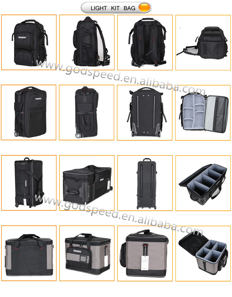 Photography Equipment Studio Light Rolling Bag