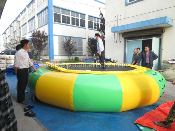 inflatable trampoline for water sports toys