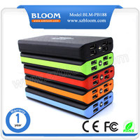 Big capacity 4 usb output ports powerbank case portable rechargeable power bank station 200000 mah