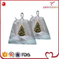 Christmas professional design personality linen small drawstring bag