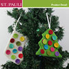 Fashion mini size holiday tree decoration ornament christmas felt card holder
