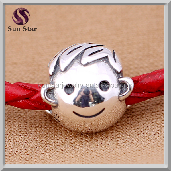2016 New gift 925 Sterling Silver boy charm Unique DIY European Bracelets Beads