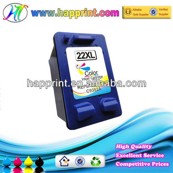 Remanufactured color ink cartridge for HP 22XL C9352A ink cartridges wholesale !
