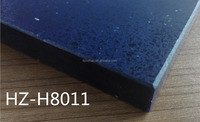 Blue artificial quartz stone kitchen countertop bar top