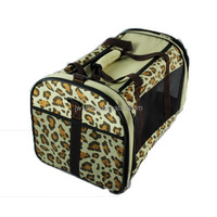 2015 Sassy leopard pet dog carrier bag