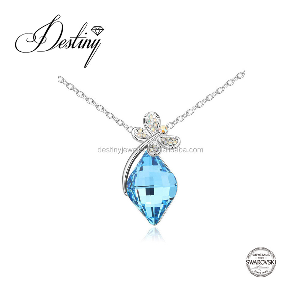 Destiny Jewellery Blue crystalFactory direct sale wholesale Necklace Embellished with crystals from Swarovski