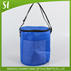 embossed non woven round cooler bag/2017 popular water bottle cooler bag