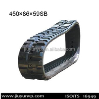 REPLACEMENT for Komatsu CK35-1Rubber Tracks/Komatsu CK30-1Rubber Tracks Size 450x86x59SB