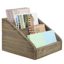 Wooden Desk Organizer / Pen Holder / Office Supplies Caddy with Dual Chalk & Dry Erase Message Boards