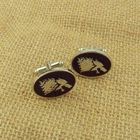 Game of Thrones Stark button the Men Shirts CuffLinks the Vintage Movie Jewelry CL-64
