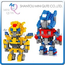 Mini Qute BALODY 2 styles American super hero change robot Bumblebee plastic Series connect building blocks boys educational toy