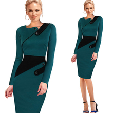 New Fashion OL Women Ladies Office Dress Clothes Knee-length Pencil Dress