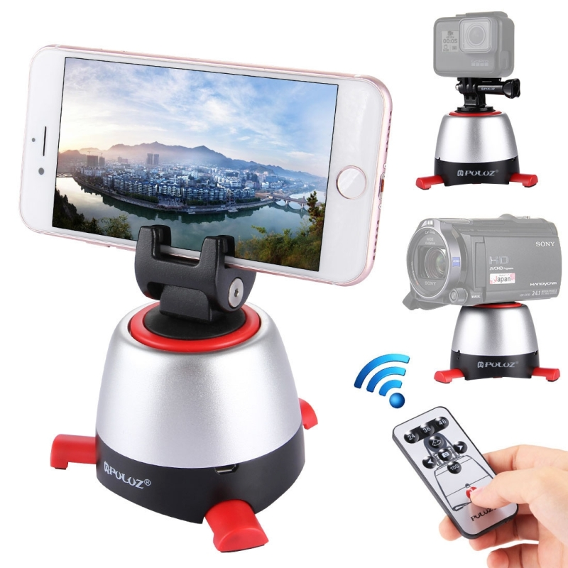 PAY <strong>10</strong> GET 11 PULUZ Electronic 360 Degree Rotation Panoramic Head with Remote Controller for Smartphone Sport Action DSLR Camera