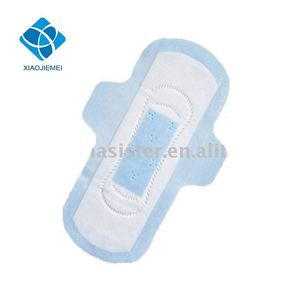 245mm Super Absorbent Ultra Thin Sanitary Napkin With Blue Core