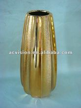 handmade palted ceramic antique chinese brass vase
