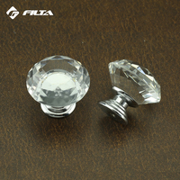 China furniture round crystal rhinestone luxury door kitchen cabinet knobs handles hardware antique glass drawer pulls
