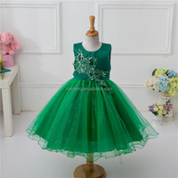 High Popularity Anti-Wrikile 1-8 Years Old New Year Girl Summer Dress