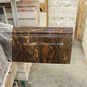 marble Skirting board stone lines molding baseboard from Foshan manufactory supplier