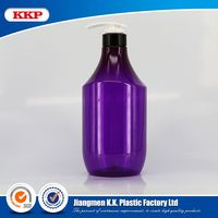 Factory price 1000ml pet bottle for skin care shampoo packaging/.