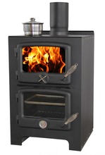 Chinese cold rolled steel plate wood burning stove with oven
