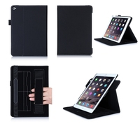 2015 Premium Leather Tablet Smart Cover Case For iPad 6 With Strap