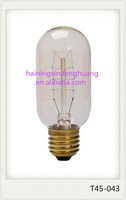 Alibaba best selling edison light bulb 25w 40w 60w E26 E27 B22 T45 E27 T45 edison light bulb