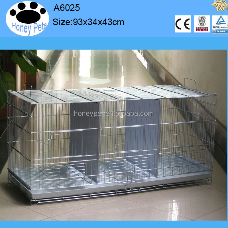 White color metal canary pvc bird breeding cages