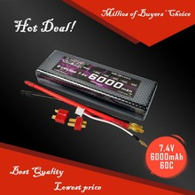 HRB 2S 7.4V 60C 6000mah hard case lithium lipo battery for RC Racer Series CAR