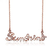 Fashion Accessories Stainless Steel Sunshine Pendant