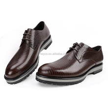 Heyco high quality lizard skin genuine leather thick sole bridegroom men dress shoes