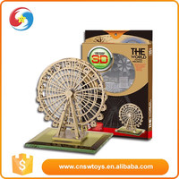 Carefully crafted the ferris wheel Puzzle toy 3d paper model toy cardboard puzzle